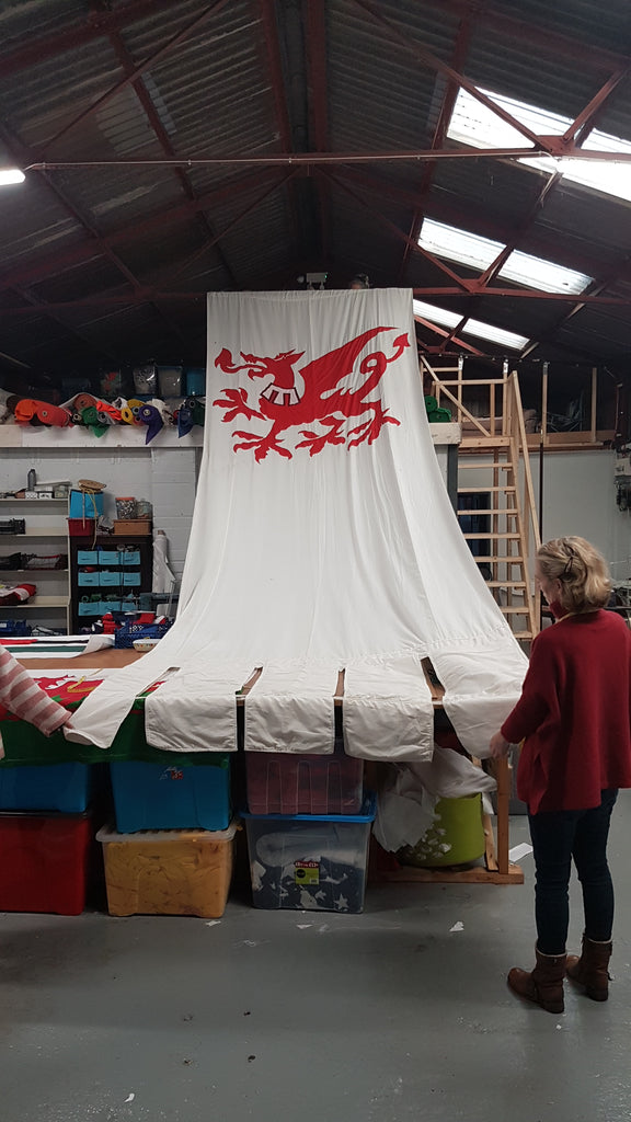 Investiture of Prince Charles at Caernarfon Castle The Crown tv series flags by Red Dragon Flagmakers