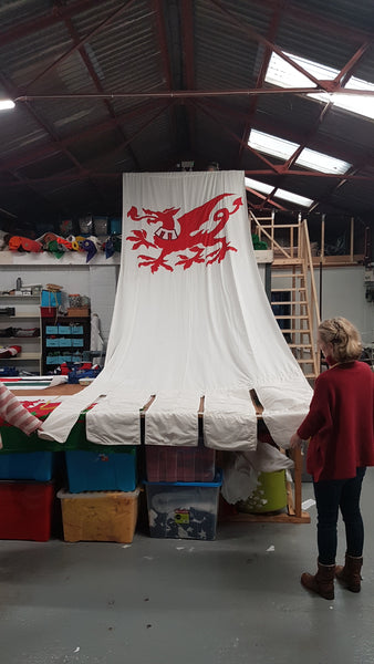 The Crown flags and banner by Red Dragon Flagmakers