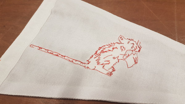 Freehand embroidery by Red Dragon Flagmakers