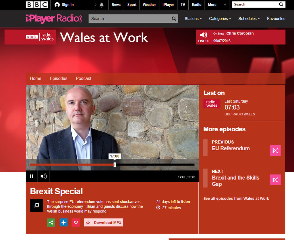 BBC Radio Wales Brexit, Jo Ashburner, Red Dragon Flagmakers