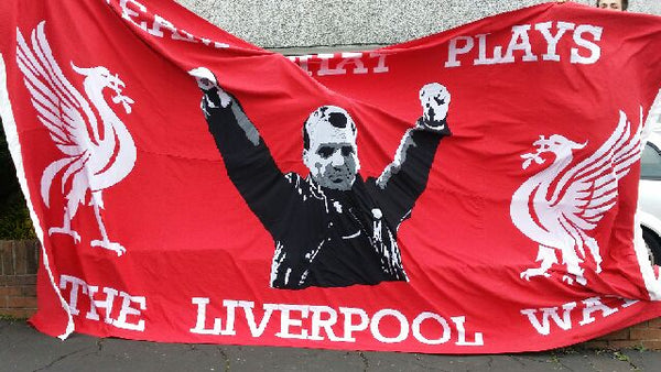 Liverpool FC Brendan Rogers 2015 stitched banner by Red Dragon Flagmakers