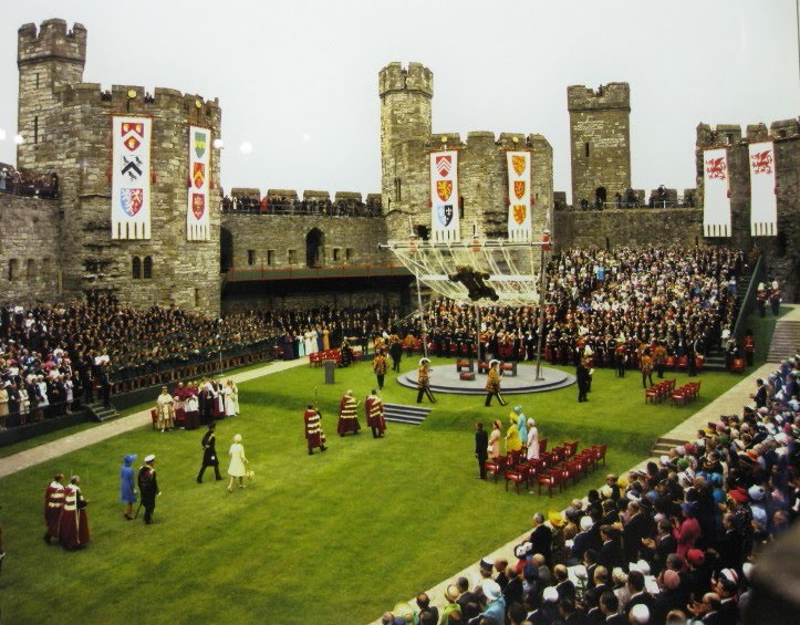 Investiture of Prince Charles at Caernarfon Castle The Crown flags by Red Dragon Flagmakers