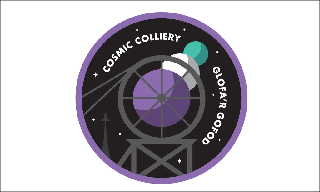 Cosmic colliery artwork by Red Dragon Flagmakers