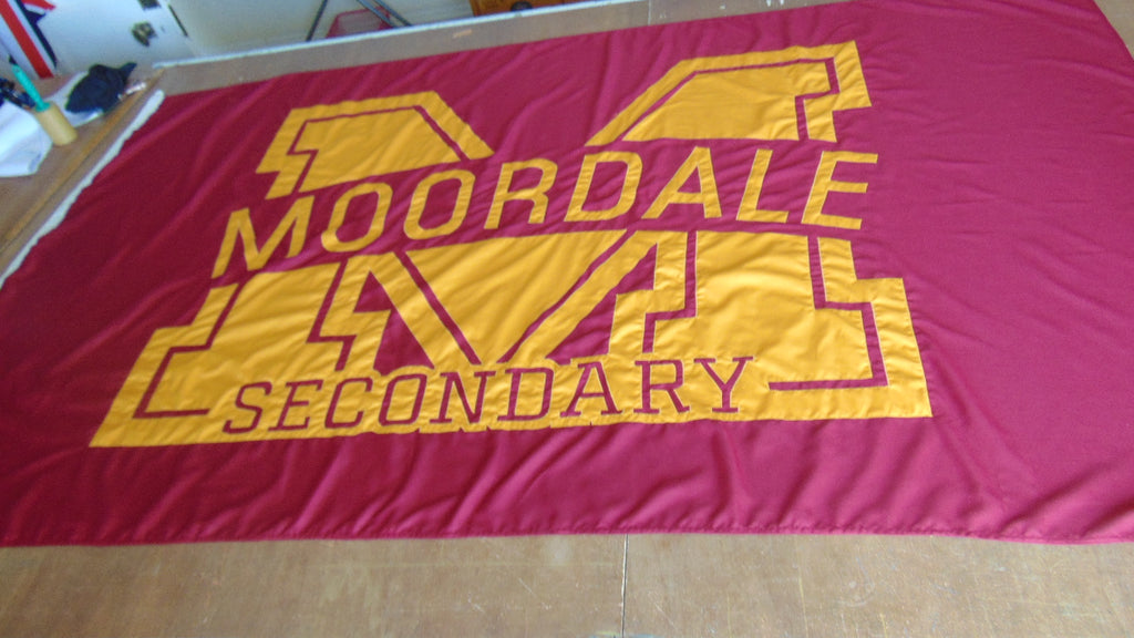 Moordale flag Sex Education flags and bunting by Red Dragon Flagmakers