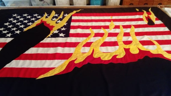 USA on fire by Red Dragon Flagmakers
