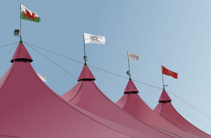 Eisteddfod flags by Red Dragon Flagmakers