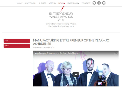 Manufacturing Entrepreneur of the year 2015, Jo Ashburner, Red Dragon Flagmakers