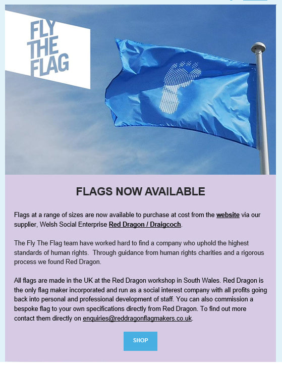 Fly the Flag for human rights, Ai Weiwei social enterprise flagmaker Red Dragon Flagmakers exclusive Fuel Amnesty International