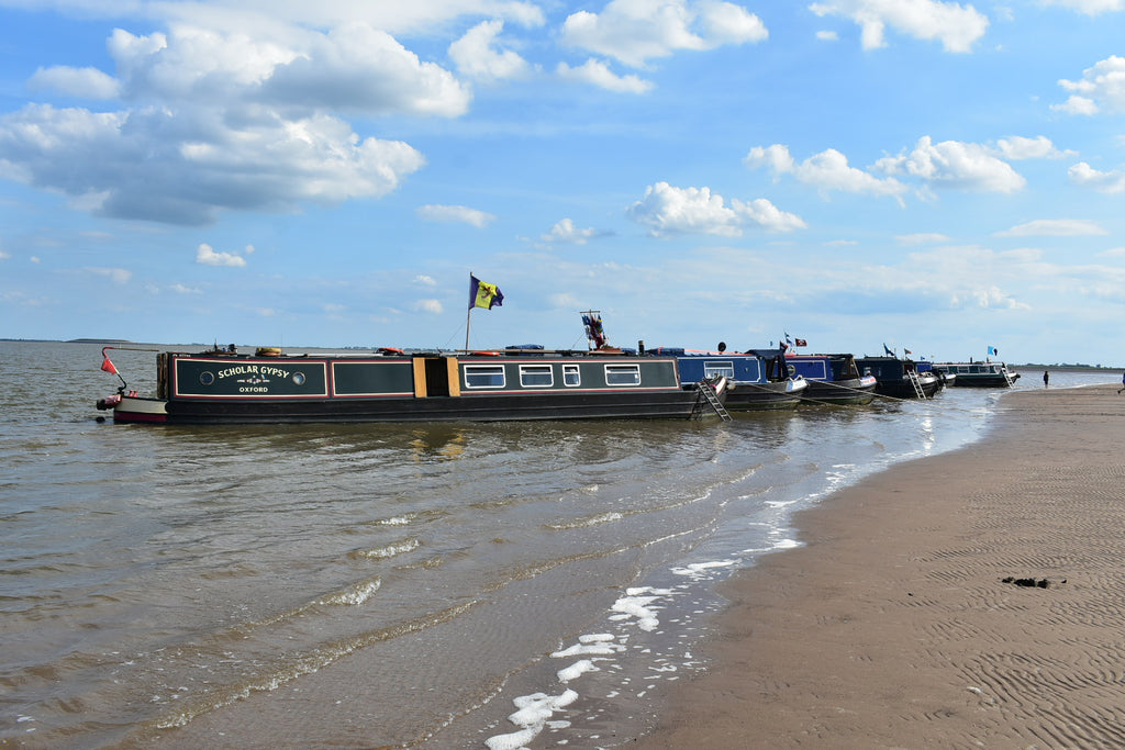 Fenland flag on a barge, James Bowman, Red Dragon Flagmakers