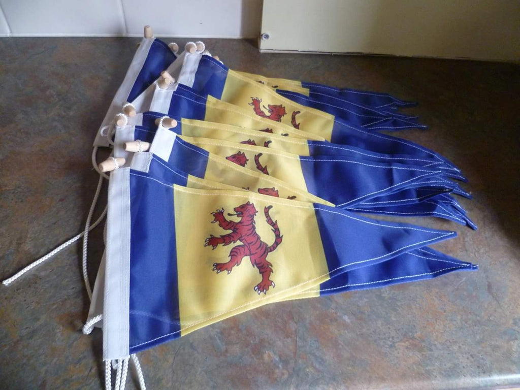 Fenland flag pennants, James Bowman, Red Dragon Flagmakers