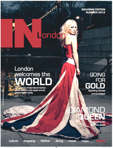 London magazine, silk Union made by Jo Ashburner at Red Dragon Flagmakers for the Olympics 2012