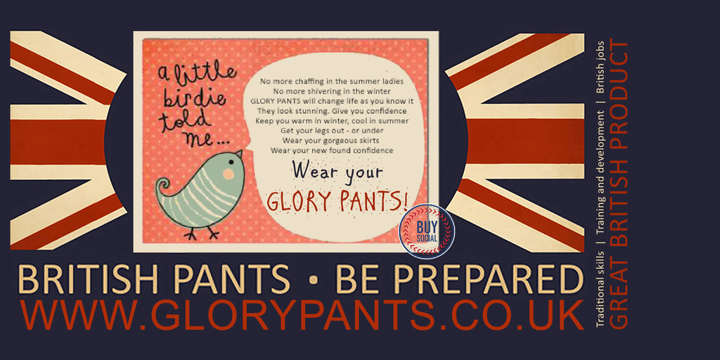 Get your pants on with glory pants