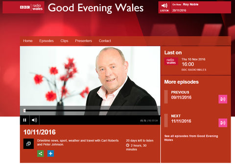 Good Evening Wales BBC Radio Wales Jo Ashburner Red Dragon Flagmakers