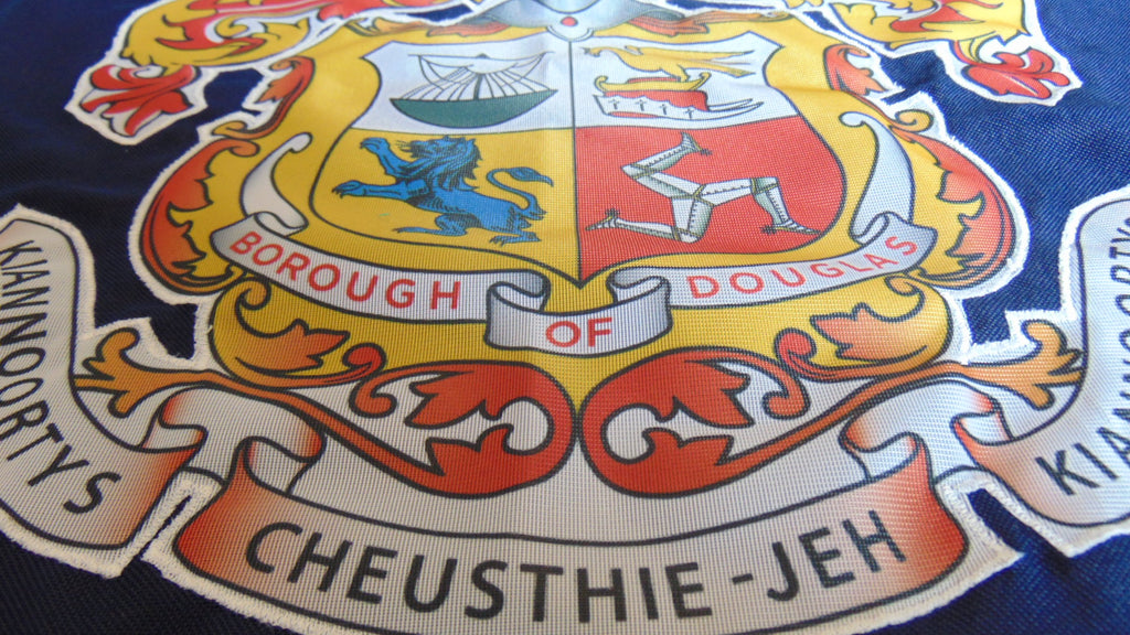 Half and half format, printed badge stitched to stitched ground by Red Dragon Flagmakers