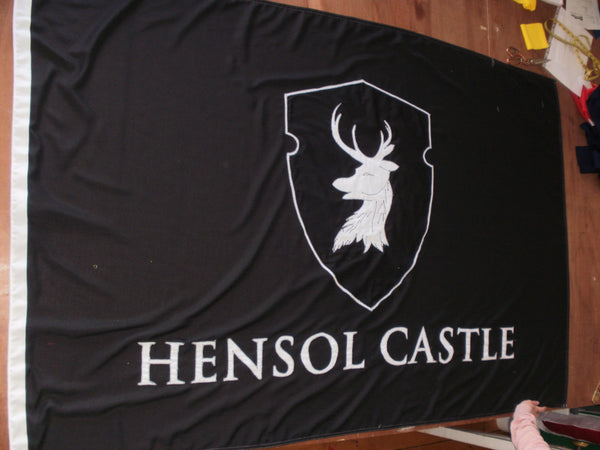 Hensol Castle traditional stitched flag by Red Dragon Flagmakers