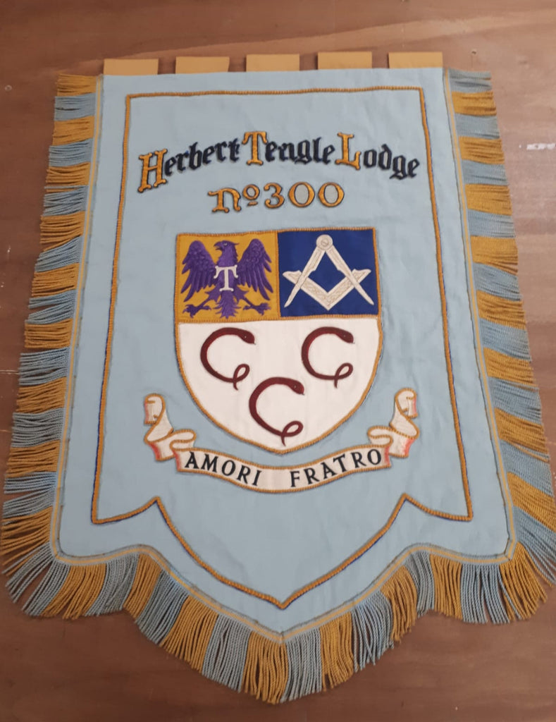 Herbert Teagle Lodge banner restoration by Red Dragon Flagmakers