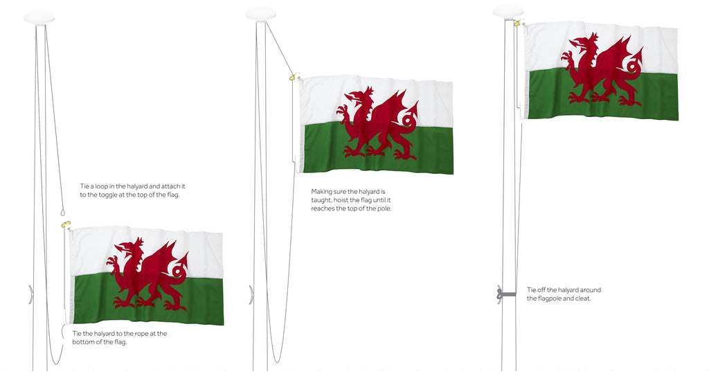 How to hoist a flag by Red Dragon Flagmakers