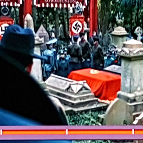 SS-GB coffin drape, Nazi banners, BBC ONe drama 2017 made by Red Dragon Flagmakers