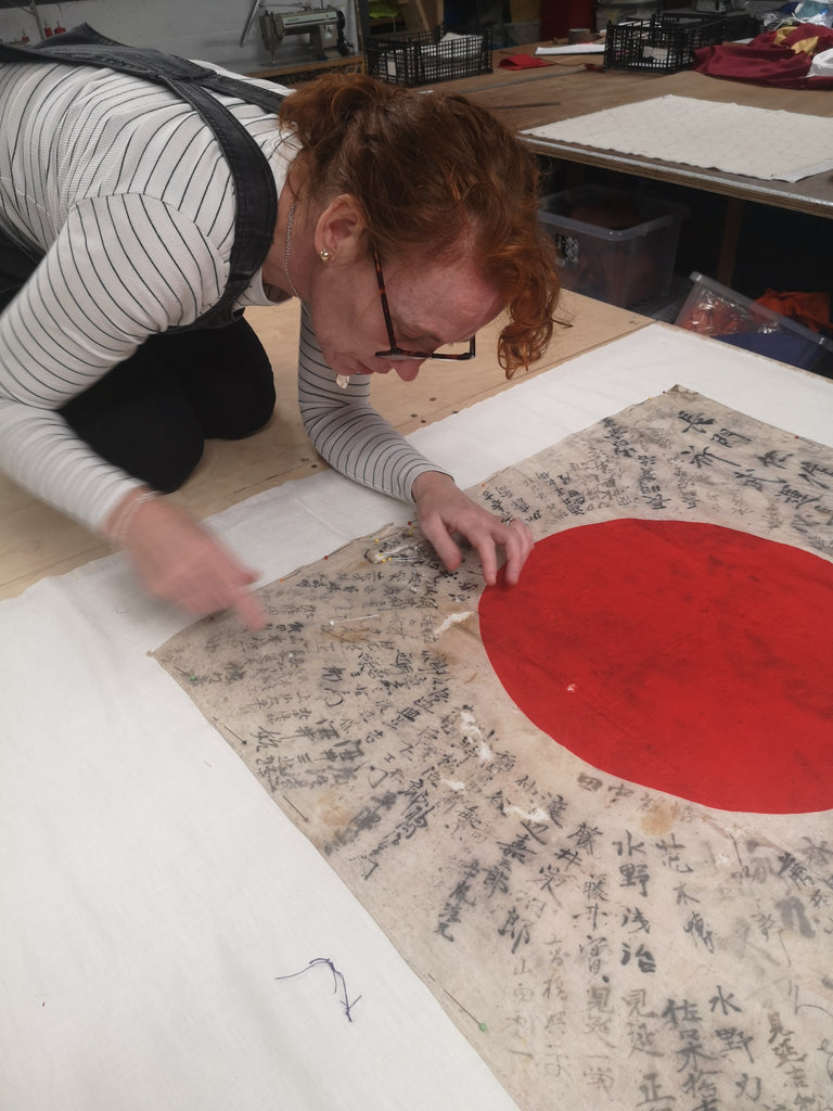 Restoration of a Japan flag by Red Dragon Flagmakers