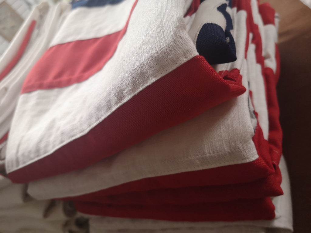 Superdry vintage USA flags by Red Dragon Flagmakers