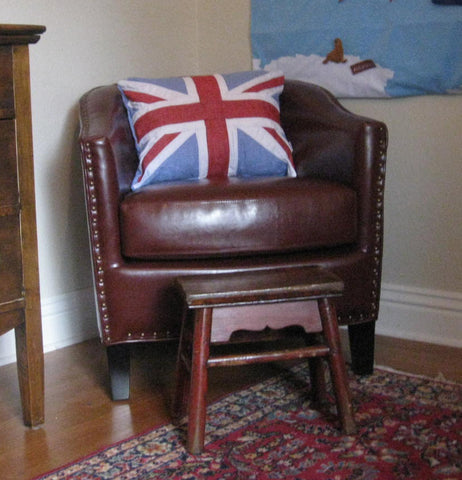 Union retro cushion custom made by red dragon flagmakers
