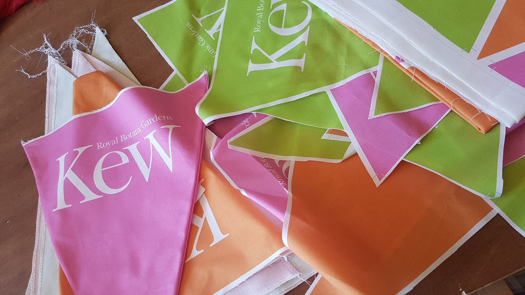 Kew Gardens cotton printed bunting by Red Dragon Flagmakers