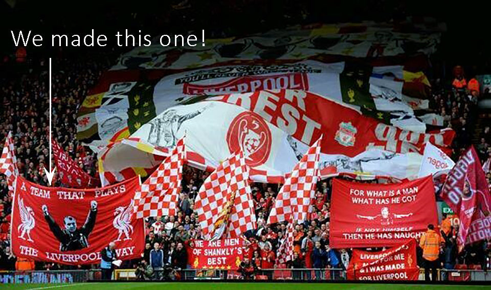 Brendan Rogers Liverpool FC flag banner by Red Dragon Flagmakers