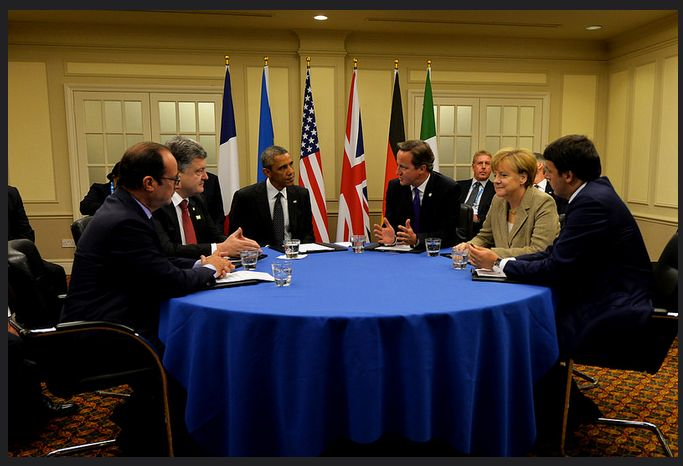 NATO Wales Summit 2014, Obama, Cameron, Merkl