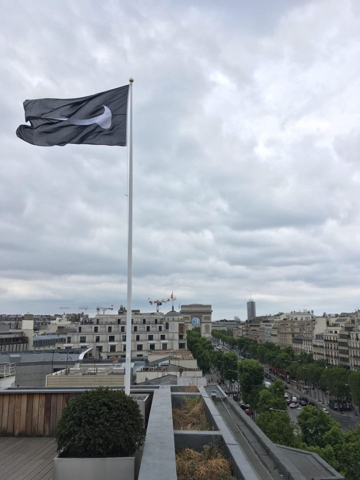 Flagpole and flag Nike Paris by Red Dragon Flagmakers
