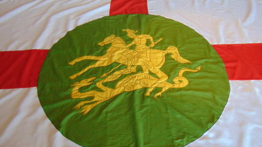 Royal Northumberland flag repair and restoration by Red Dragon Flagmakers