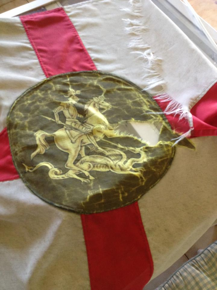 Northumberland Fusiliers repair and restoration by Red Dragon Flagmakers