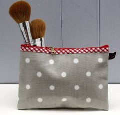 Oilcloth makeup bag