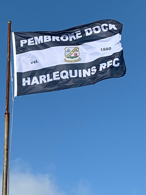Harlequin RFC Pembroke Dock by Red Dragon Flagmakers
