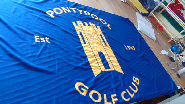 Golf club flag by Red Dragon Flagmakers