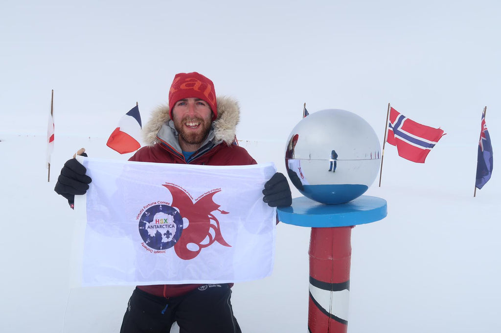 Fully printed flag by Red Dragon Flagmakers in Antarctica