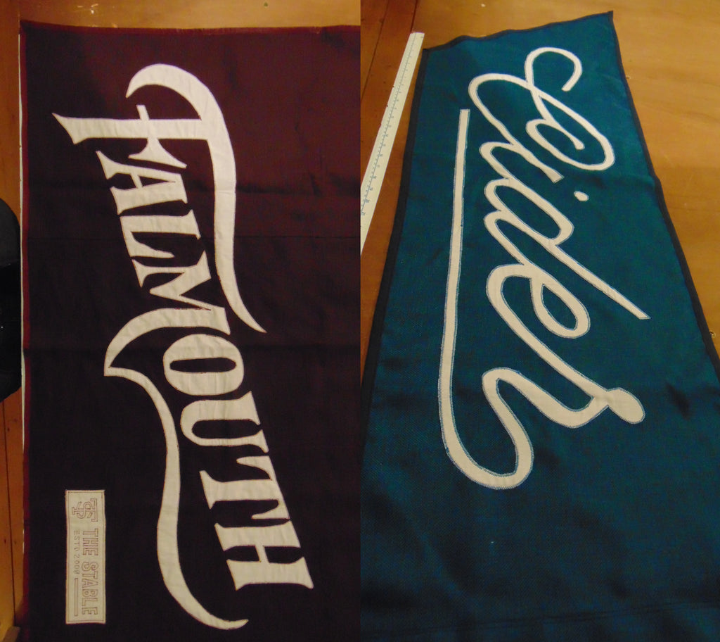 Fully stitched banners and flags for the Stables Falmouth restaurant installation by Red Dragon Flagmakers