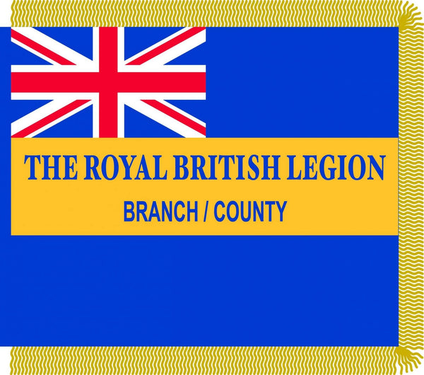 The Royal British Legion ceremonial flags