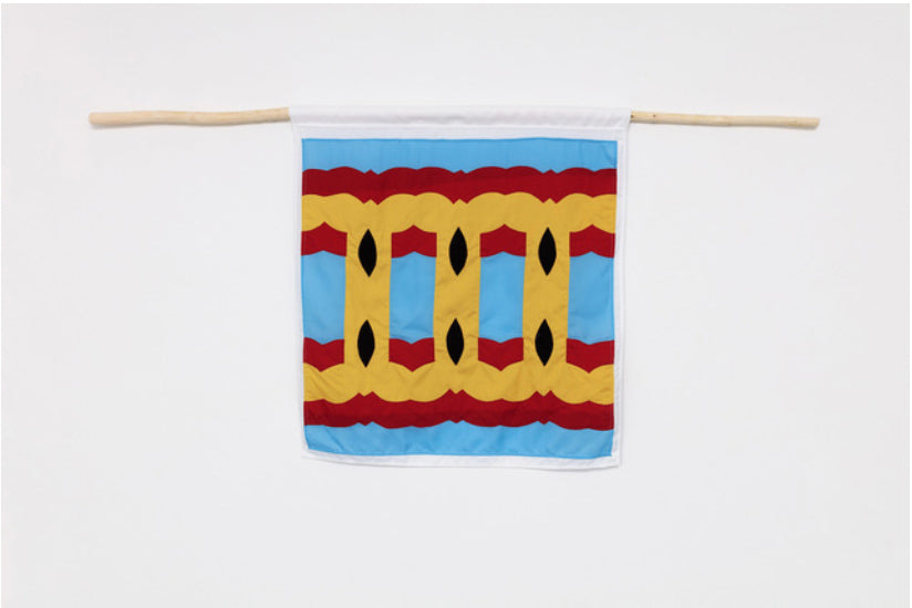 Samson Kambalu stitched banner by Red Dragon Flagmakers