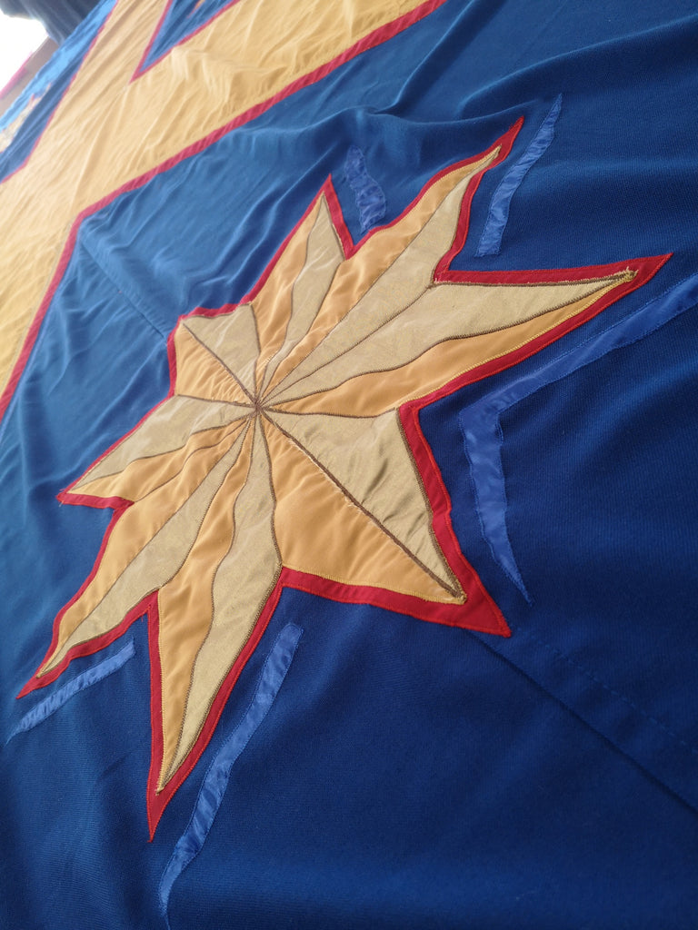 Closeup of ecclesastical flag by Red Dragon Flagmakers