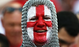 St George flag and England supporter