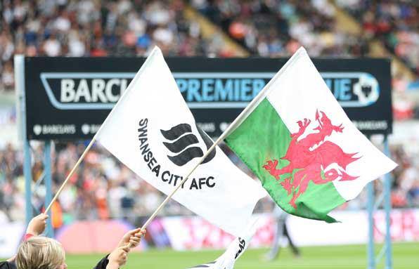 Swansea City Football club flags by Red Dragon Flagmakers