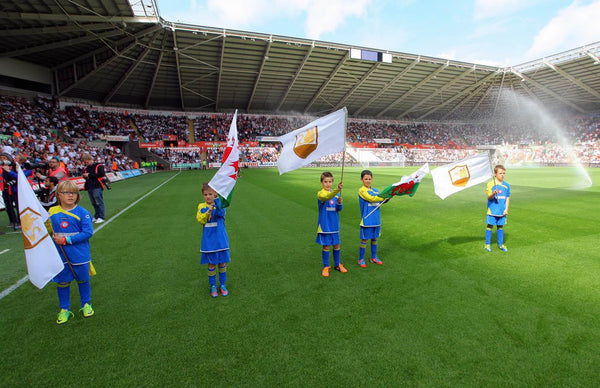 Swansea City FC stitched flags for the commemoration parade by Red Dragon Flagmakers