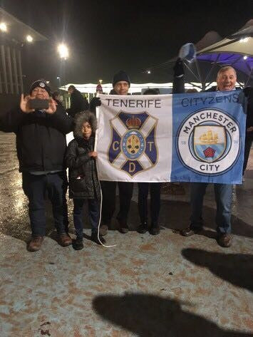 Custom printed Manchester City flag by Red Dragon Flagmakers
