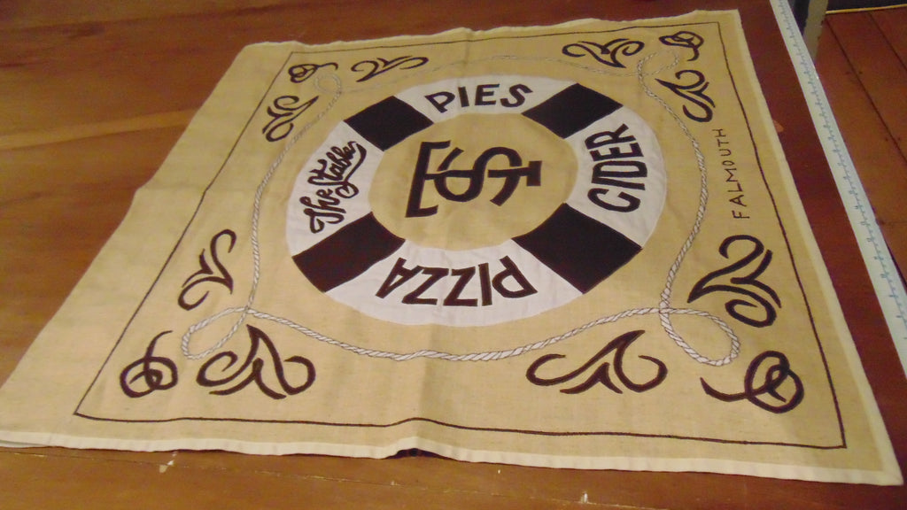Restaurant pizza installation stitched banners for the Stable Falmouth by Red Dragon Flagmakers