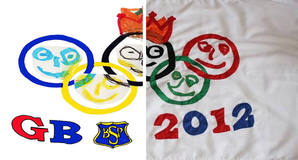 School flag designed by children by Red Dragon Flagmakers
