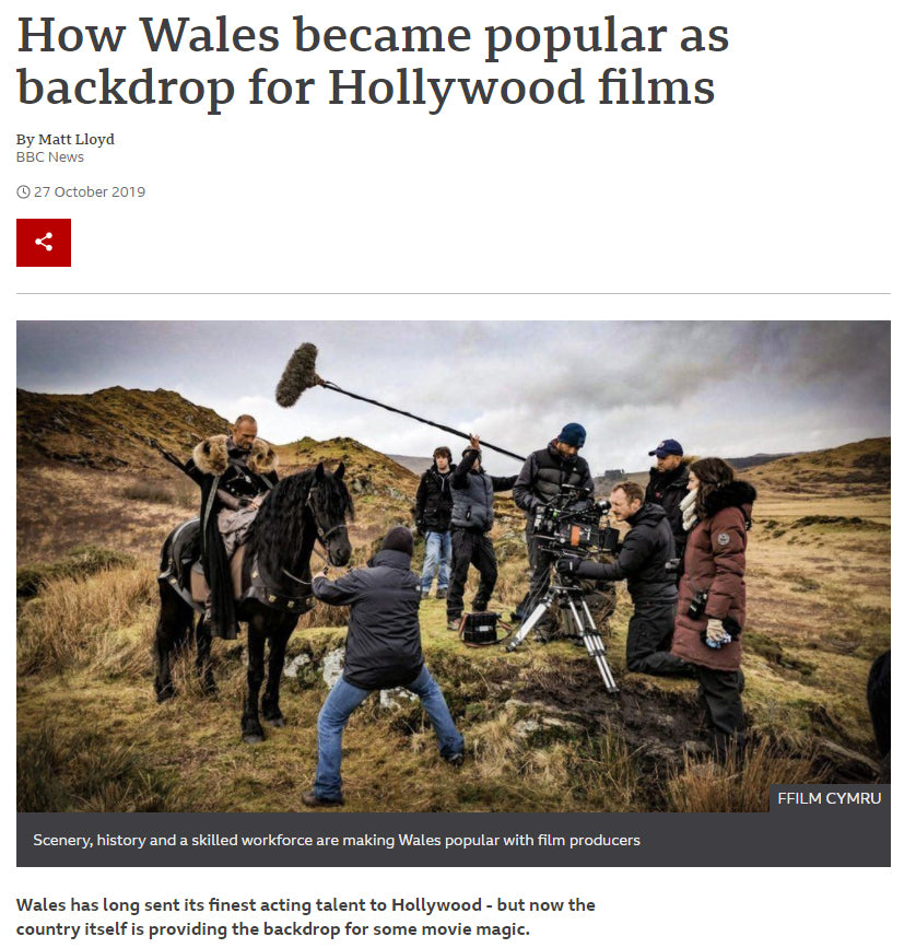 How Wales became popular as a backdrop for Hollywood films with flags by Red Dragon Flagmakers