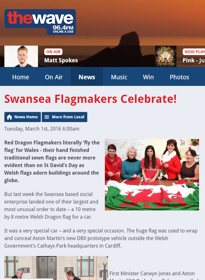 The Wave and Red Dragon Flagmakers celebrate!