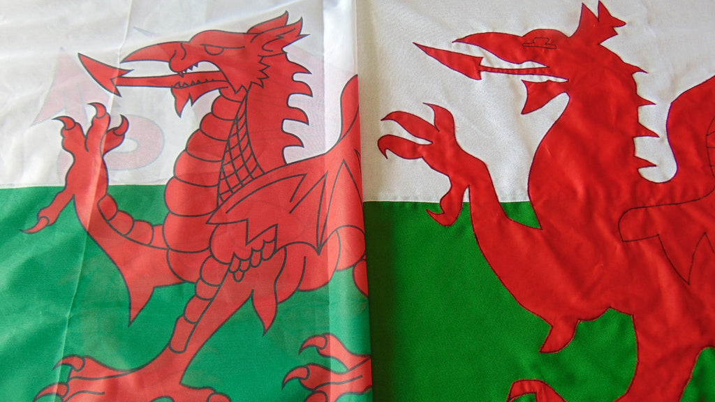 Welsh Dragon printed flag sewn flag