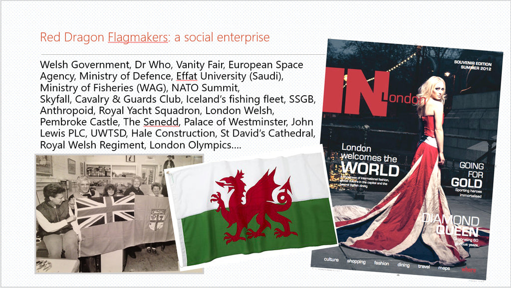Setting up a social enterprise. Red Dragon Flagmakers