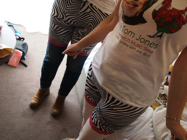 Tom Jones, hen parties, and glory pants by red dragon manufacturing